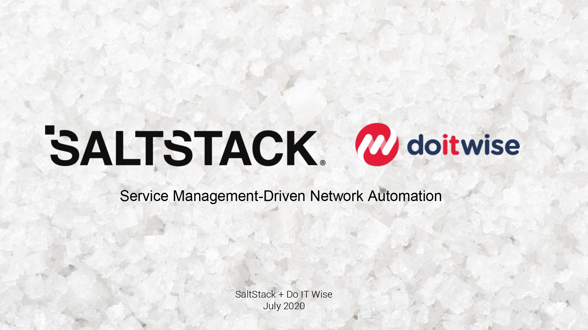 Webinar: Service Management-Driven Network Automation with Do IT Wise and SaltStack